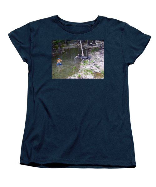 Women's T-Shirt (Standard Cut) featuring the photograph Who Is More Stubborn by John Glass
