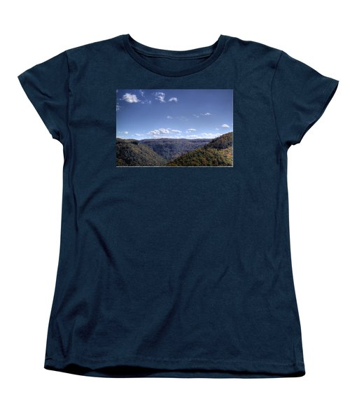 Women's T-Shirt (Standard Cut) featuring the photograph Wide Shot Of Tree Covered Hills by Jonny D