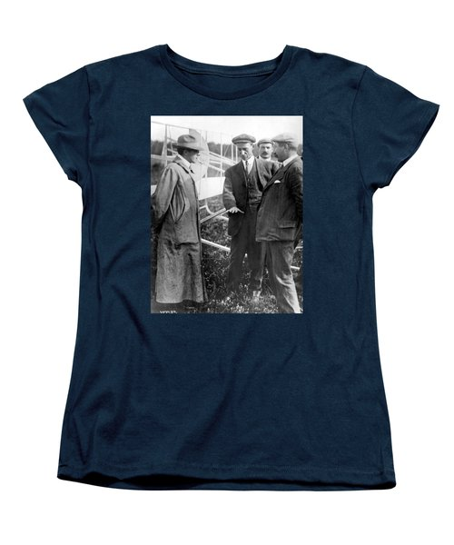 Women's T-Shirt (Standard Cut) featuring the photograph Wilbur Wright, 1908 by Science Source