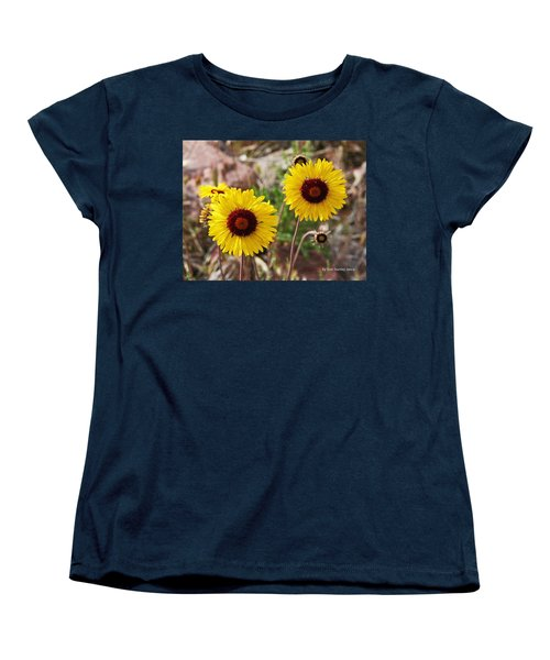 Women's T-Shirt (Standard Cut) featuring the photograph Wild Flowers Above The Rim by Tom Janca