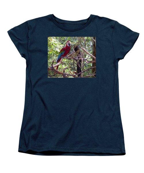 Women's T-Shirt (Standard Cut) featuring the photograph Wild Hawaiian Parrot  by Joseph Baril
