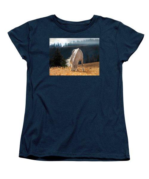 Wild Horse Cloud Women's T-Shirt (Standard Cut) by Leland D Howard