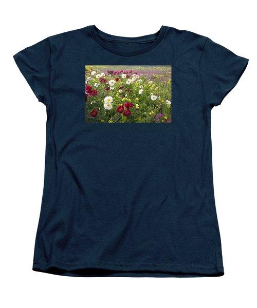 Wild Poppies South Texas Women's T-Shirt (Standard Cut) by Susan Rovira