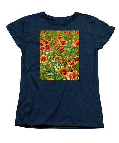 Women's T-Shirt (Standard Cut) featuring the photograph Wild Red Daisies #2 by Robert ONeil