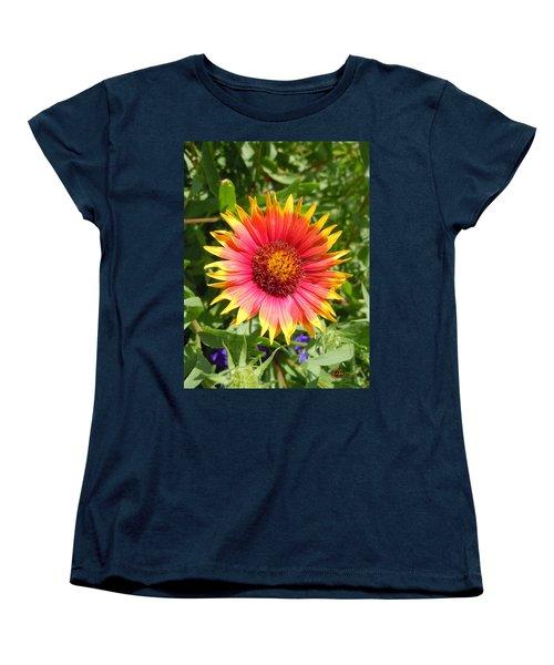 Women's T-Shirt (Standard Cut) featuring the photograph Wild Red Daisy #3 by Robert ONeil