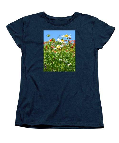 Women's T-Shirt (Standard Cut) featuring the photograph Wild White Daisies #2 by Robert ONeil