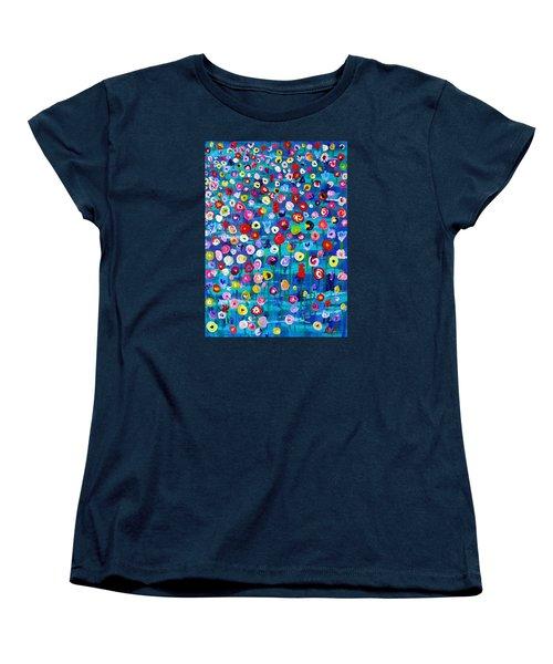Women's T-Shirt (Standard Cut) featuring the painting Wildflower Fiesta by Brenda Pressnall