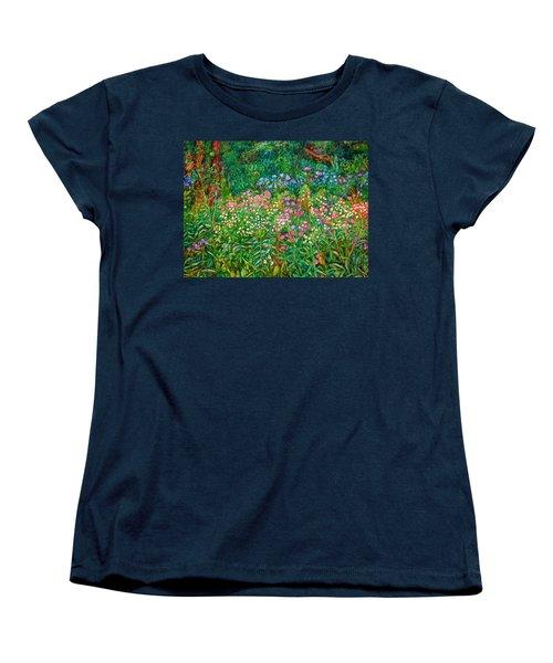 Women's T-Shirt (Standard Cut) featuring the painting Wildflowers Near Fancy Gap by Kendall Kessler