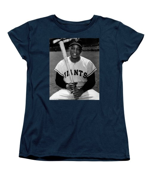 Willie Mays Women's T-Shirt (Standard Cut) by Gianfranco Weiss