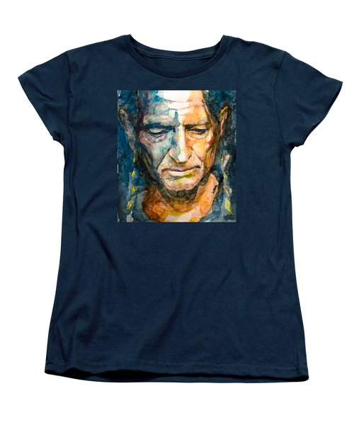 Willie Nelson  Women's T-Shirt (Standard Cut) by Laur Iduc