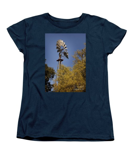 Windmill Women's T-Shirt (Standard Cut) by David Millenheft