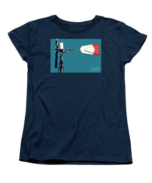 Women's T-Shirt (Standard Cut) featuring the digital art Windmill 2 by Valerie Reeves