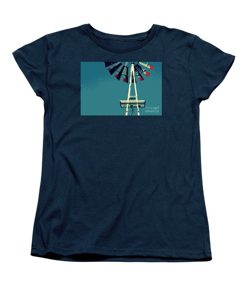 Women's T-Shirt (Standard Cut) featuring the digital art Windmill by Valerie Reeves
