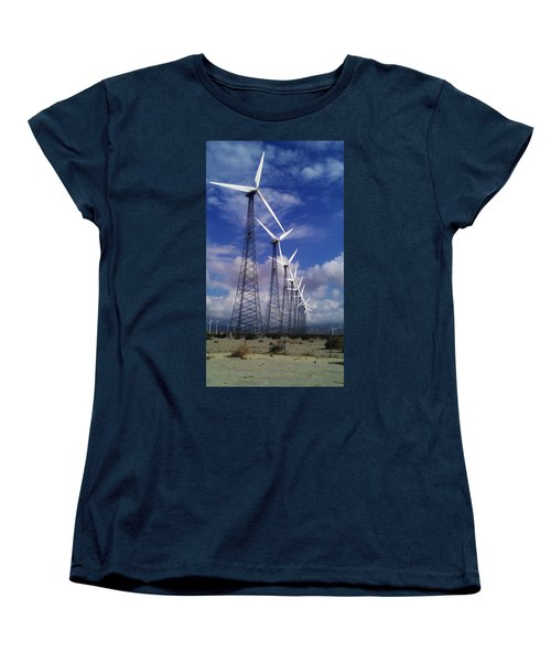 Windmills Women's T-Shirt (Standard Cut) by Chris Tarpening