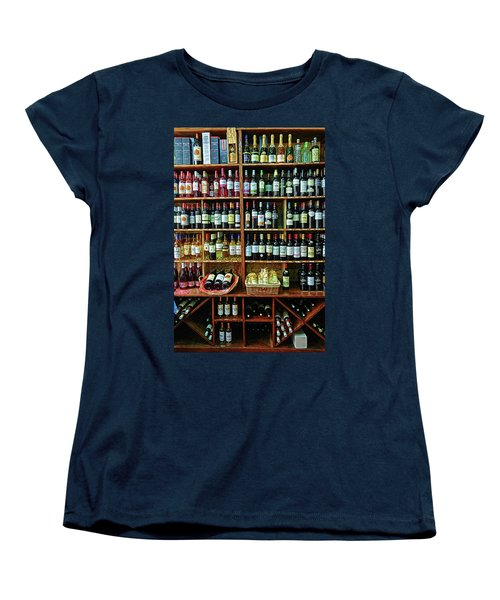 Women's T-Shirt (Standard Cut) featuring the photograph Wine Store Provence France by Dave Mills