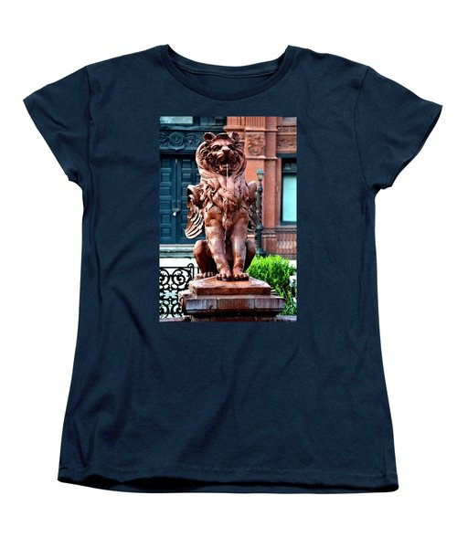 Winged Lion Fountain Women's T-Shirt (Standard Cut) by Tara Potts