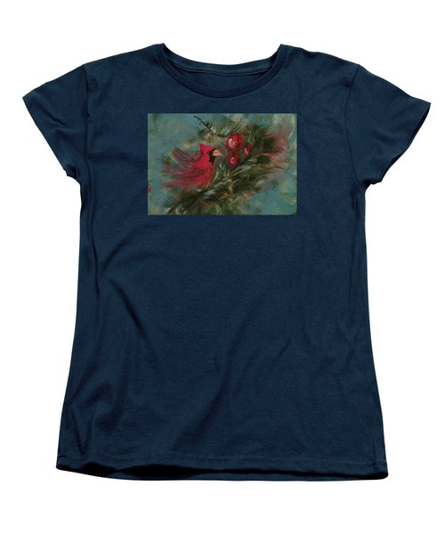 Winter Berries Women's T-Shirt (Standard Cut) by Lee Beuther