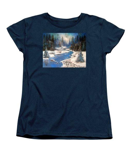 One Little Blue Women's T-Shirt (Standard Cut) by Patrice Torrillo