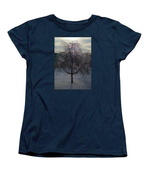 Winter Candelabrum Women's T-Shirt (Standard Cut) by Henryk Gorecki