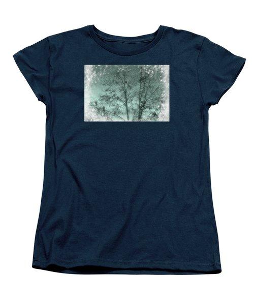 Winter Doves Women's T-Shirt (Standard Cut) by Diane Alexander