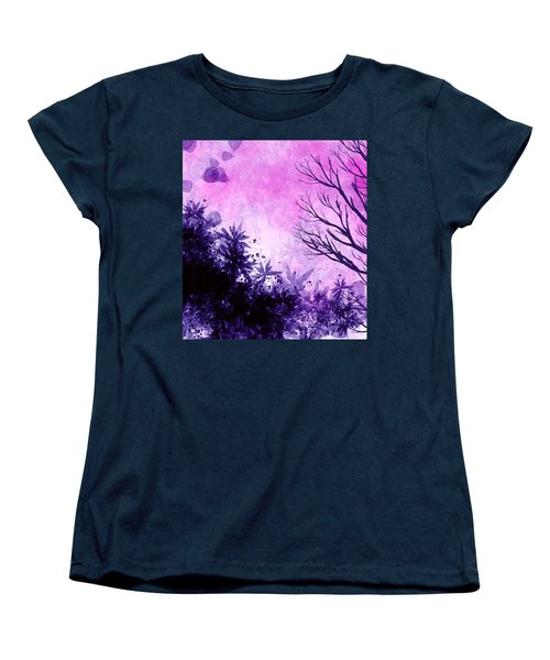Women's T-Shirt (Standard Cut) featuring the painting Winter Dreams  by Persephone Artworks