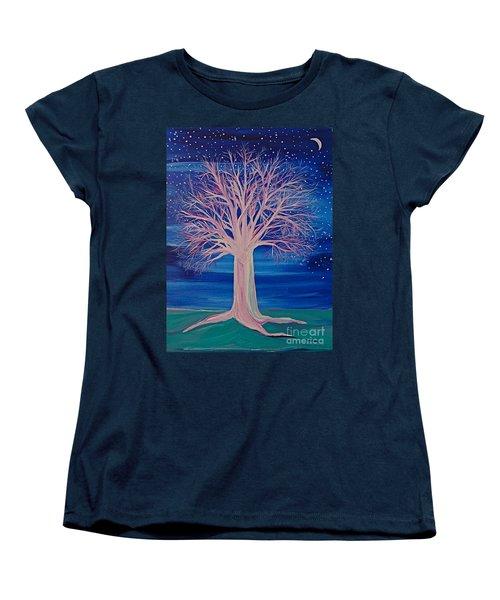Winter Fantasy Tree Women's T-Shirt (Standard Cut) by First Star Art