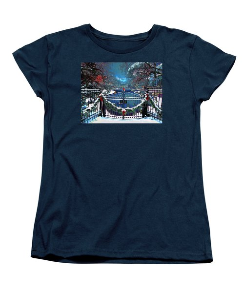 Women's T-Shirt (Standard Cut) featuring the digital art Winter Garden by Michael Rucker