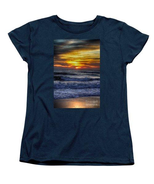 Winter North Carolina Sunrise Women's T-Shirt (Standard Cut) by Tony Cooper
