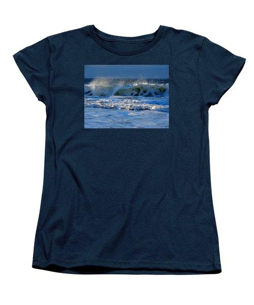 Winter Ocean At Nauset Light Beach Women's T-Shirt (Standard Cut) by Dianne Cowen