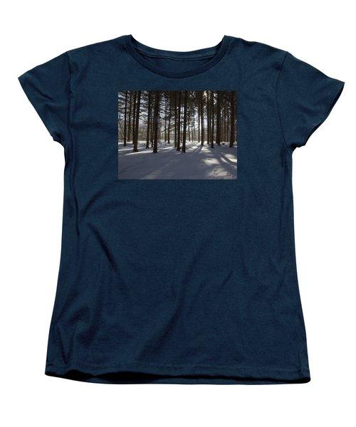Winter Pines Women's T-Shirt (Standard Cut) by Daniel Sheldon