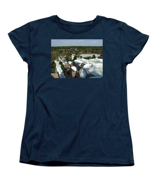 Women's T-Shirt (Standard Cut) featuring the photograph Winter Slides by David Nicholls