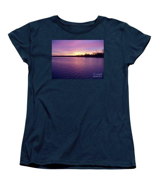 Winter Sunrise Women's T-Shirt (Standard Cut) by John Telfer