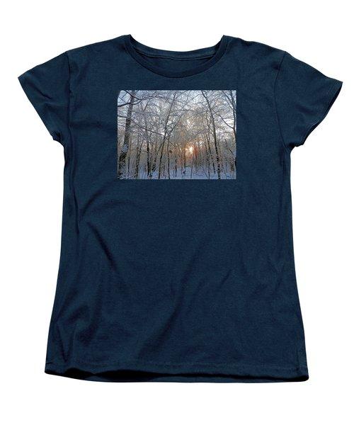 Winter Sunset Women's T-Shirt (Standard Cut) by Pema Hou