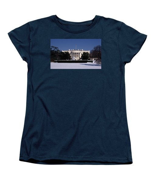 Winter White House  Women's T-Shirt (Standard Cut) by Skip Willits
