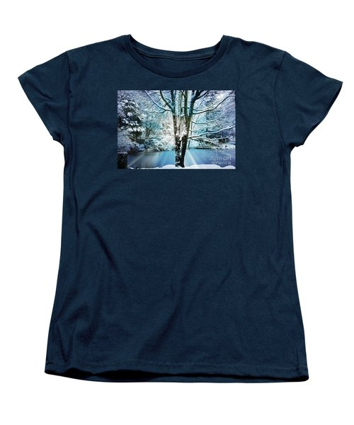 Women's T-Shirt (Standard Cut) featuring the photograph Winter Wonderland by Judy Palkimas
