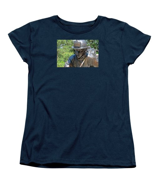 Women's T-Shirt (Standard Cut) featuring the photograph Wisconsin State Firefighters Memorial 3  by Susan  McMenamin