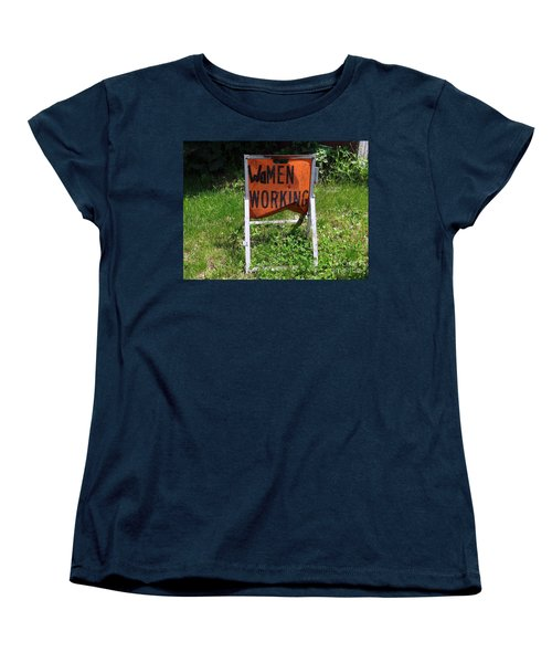 Women's T-Shirt (Standard Cut) featuring the photograph Women Working by Ed Weidman