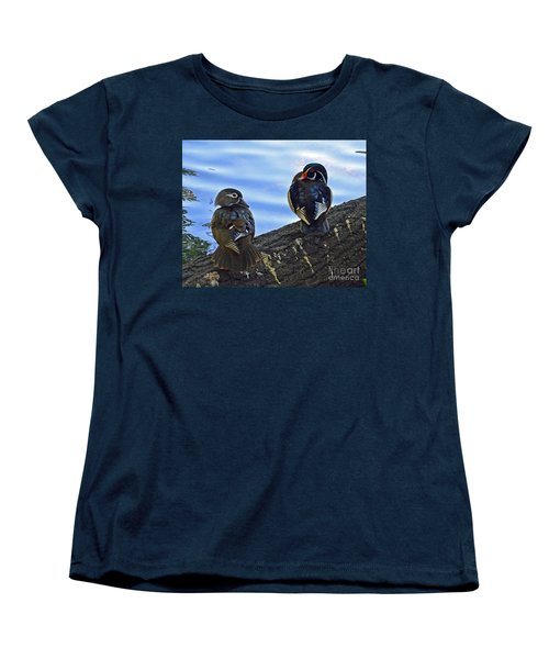 Women's T-Shirt (Standard Cut) featuring the photograph Wood You Love Me Forever by Robert Meanor