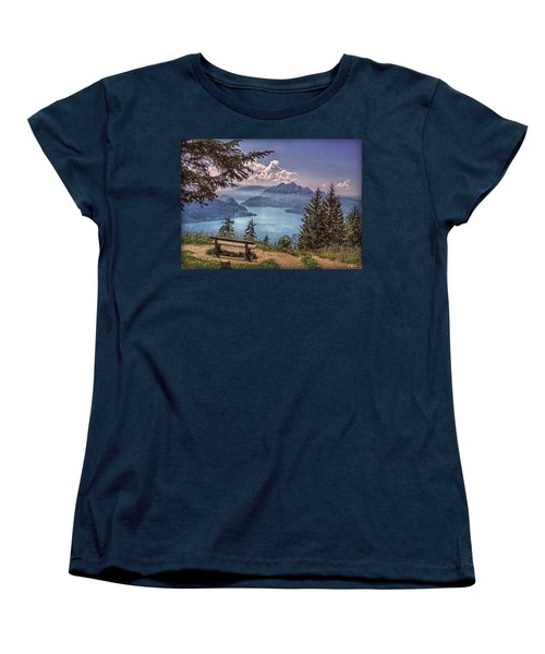 Wooden Bench Women's T-Shirt (Standard Cut) by Hanny Heim