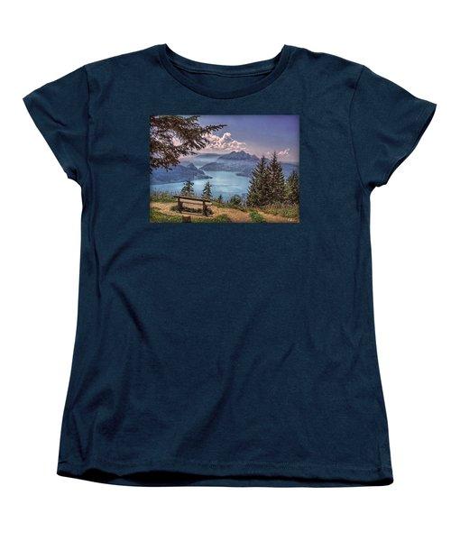 Wooden Bench Women's T-Shirt (Standard Cut)