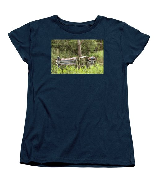 Wooden Boats Women's T-Shirt (Standard Cut) by Jeremy Voisey