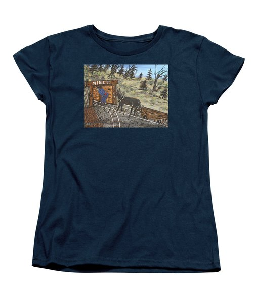 The Coal Mine Women's T-Shirt (Standard Cut) by Jeffrey Koss