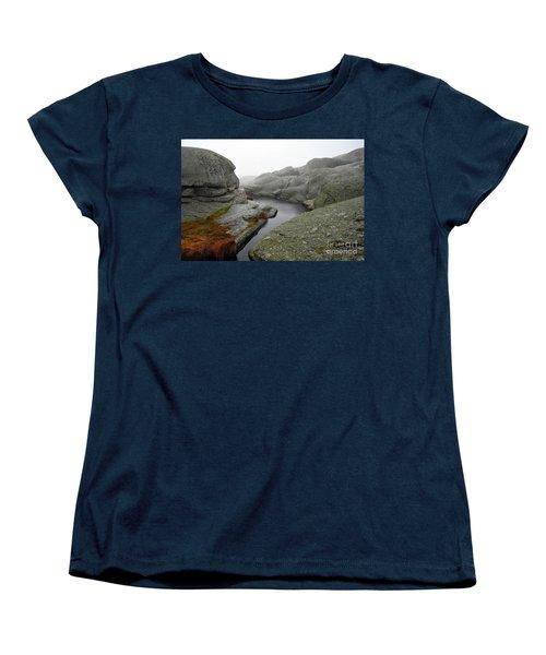 Women's T-Shirt (Standard Cut) featuring the photograph World's End 1 by Randi Grace Nilsberg