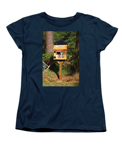 Women's T-Shirt (Standard Cut) featuring the photograph World's Smallest Library by Gordon Elwell