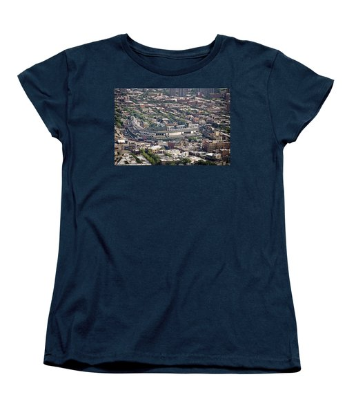 Wrigley Field - Home Of The Chicago Cubs Women's T-Shirt (Standard Cut) by Adam Romanowicz