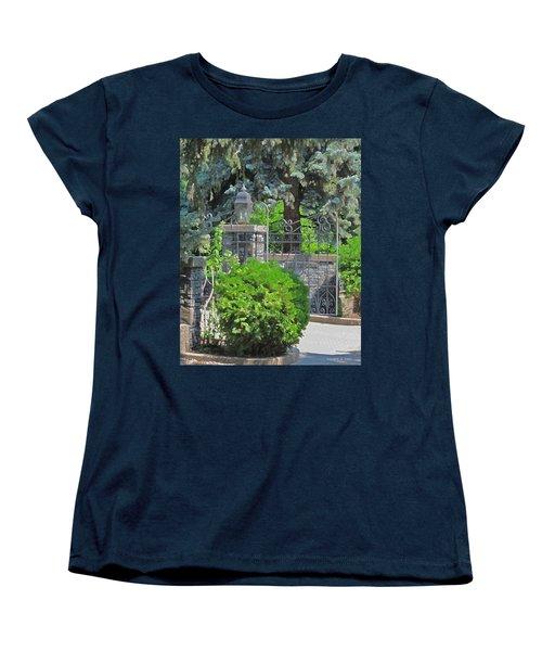 Wrought Iron Gate Women's T-Shirt (Standard Cut) by Donald S Hall