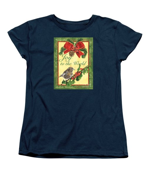 Xmas Around The World 2 Women's T-Shirt (Standard Cut) by Debbie DeWitt