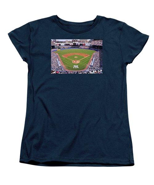 Yankee Stadium Women's T-Shirt (Standard Cut) by Allen Beatty