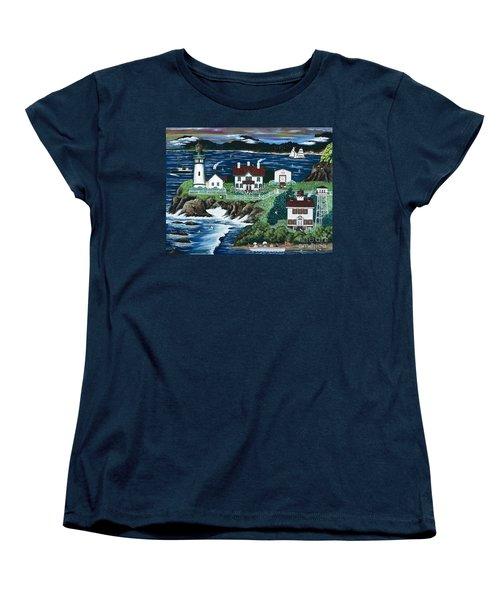 Yaquina Lighthouse Women's T-Shirt (Standard Cut)