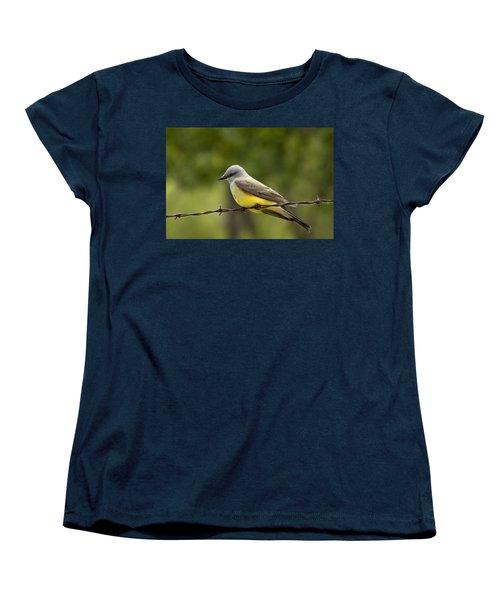 Yellow-bellied Fence-sitter Women's T-Shirt (Standard Cut) by Gary Holmes